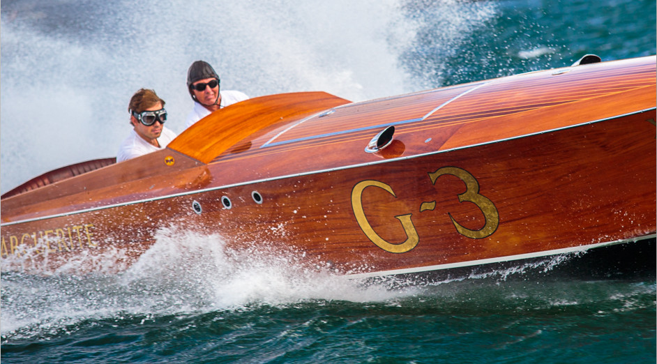 Again using a close up and having the boat show as much as possible of her hull and deck to create the dominating feel of the boat. The wake created round her as she powered round a corner, emphasises that power and thrill of the moment.  Image © Rob Oates   BALLANTYNE Photography