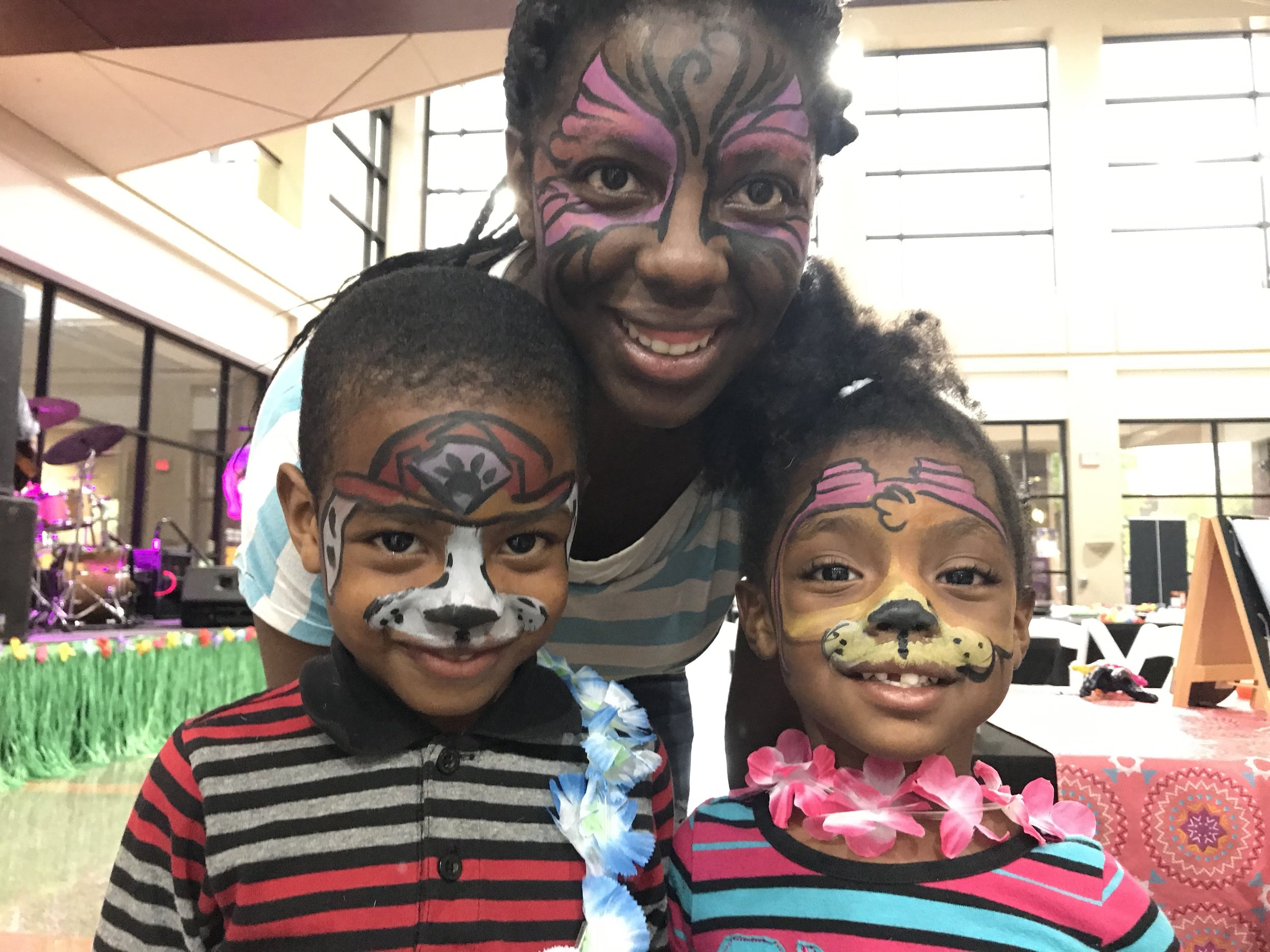 Kid's Birthday Parties & other mini events - for 10-50 kid eventscan paint 15-20 kids/hr$30/hr includes1 professional face painterhigh quality paint and suppliestable and chairs if not provided$25 travel fee if party is outside of Macon within 100miles1hr minimum