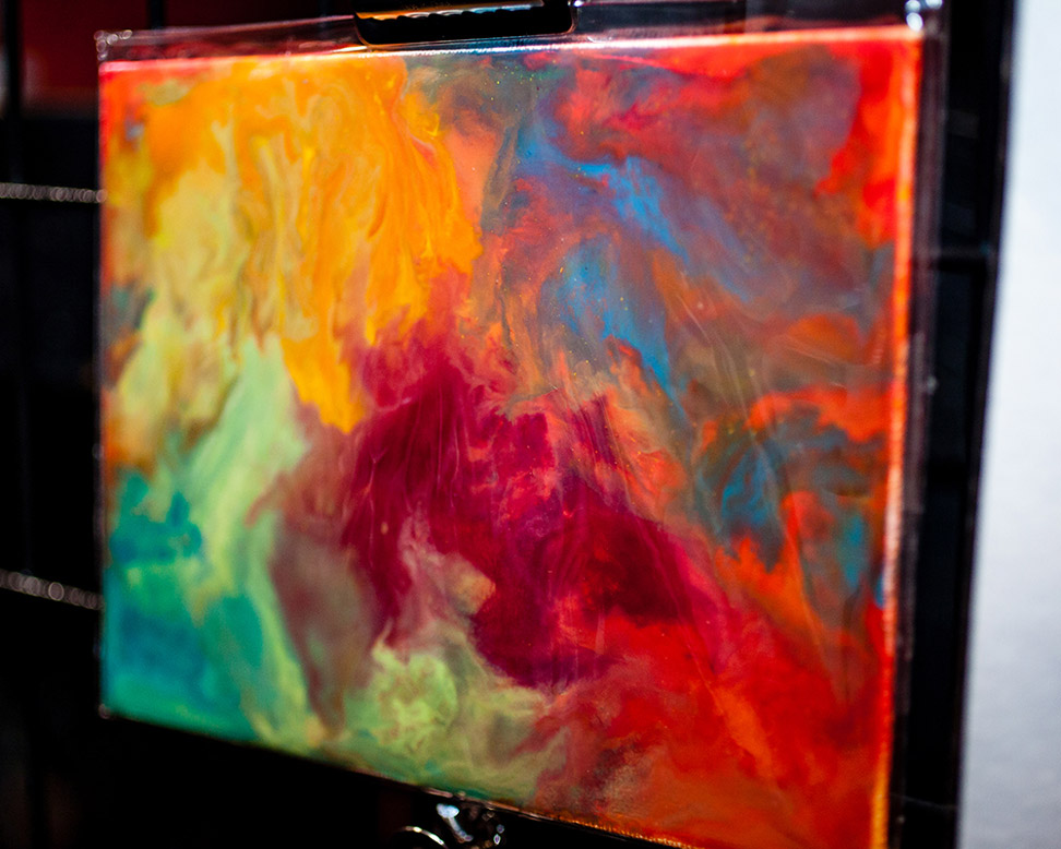 Above is the original encaustic painting.