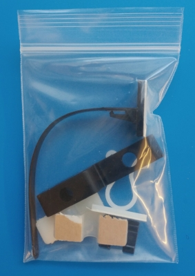 Assorted plastic clips + Clamps