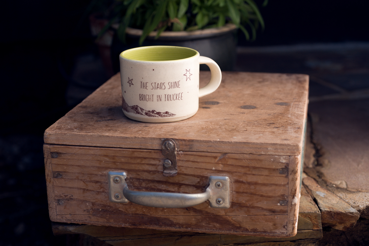 A great sized coffee cup that's actually wine and juice safe too!