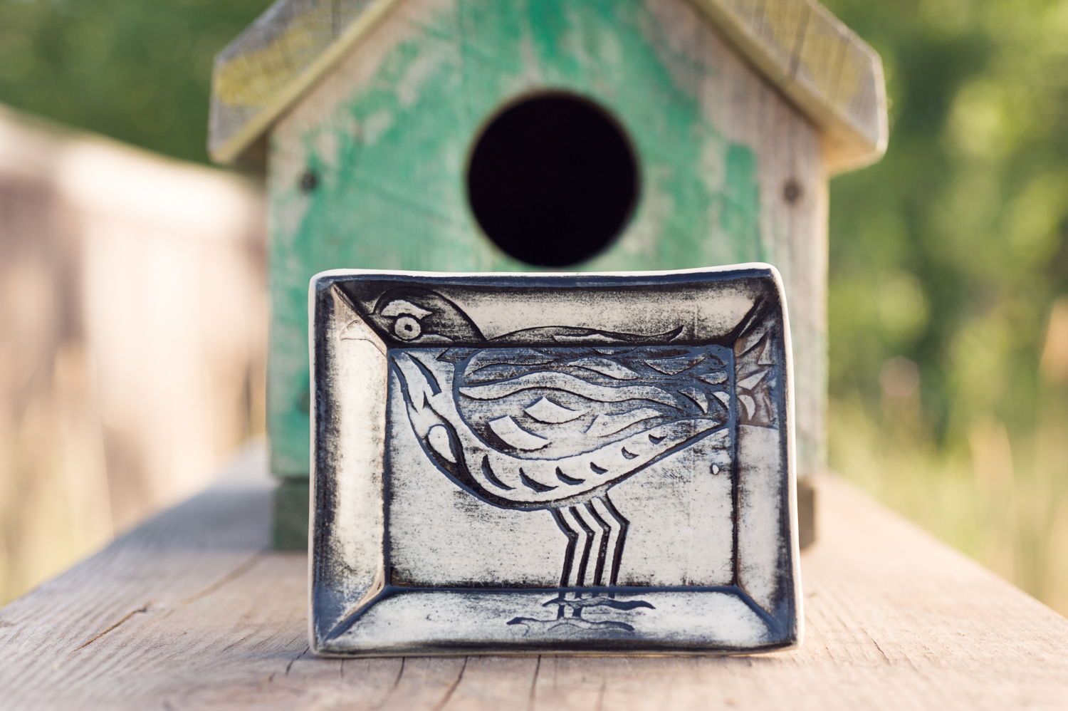 Black Bird Soap Dish