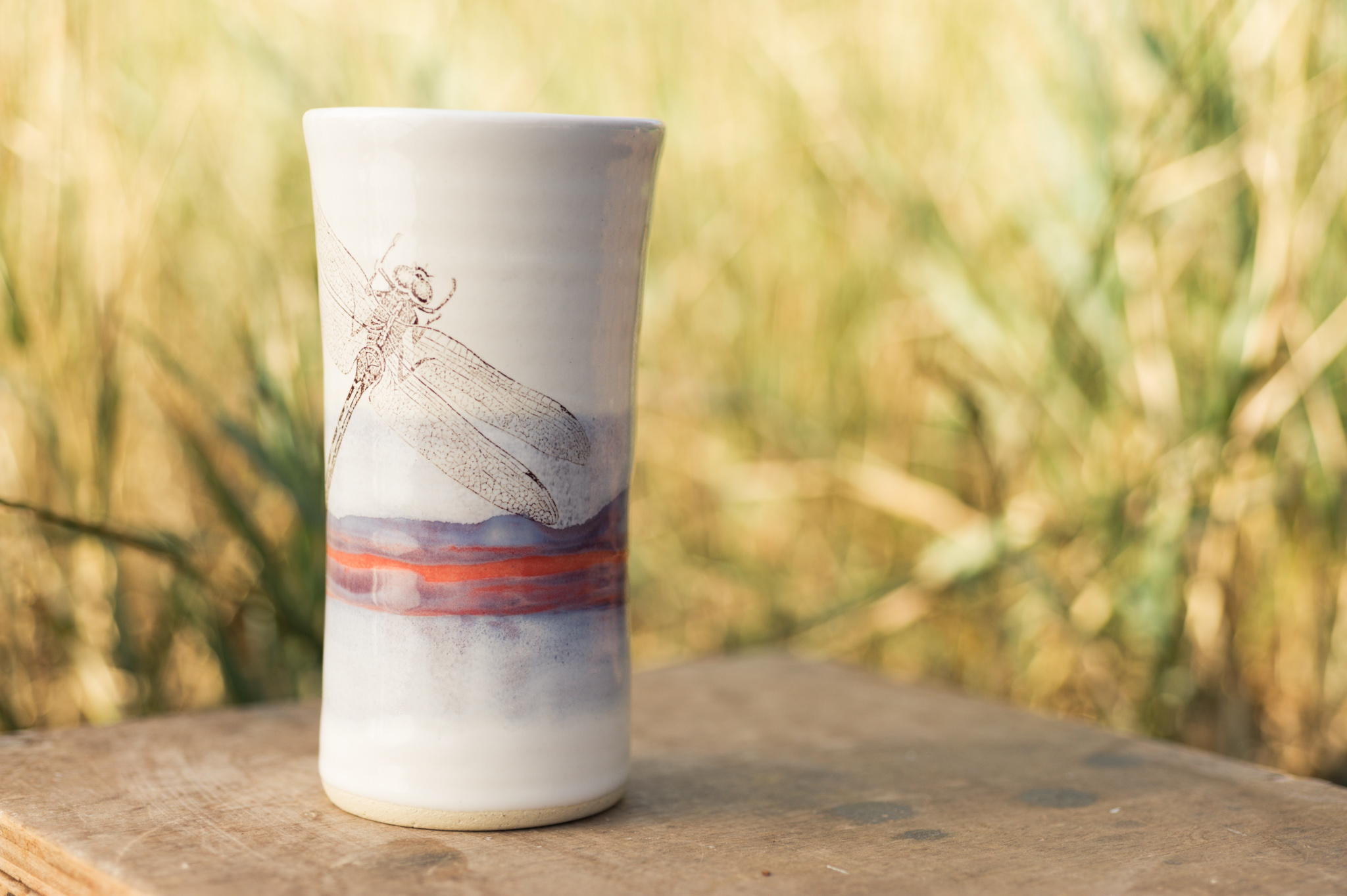 Tall tumbler with image transfer
