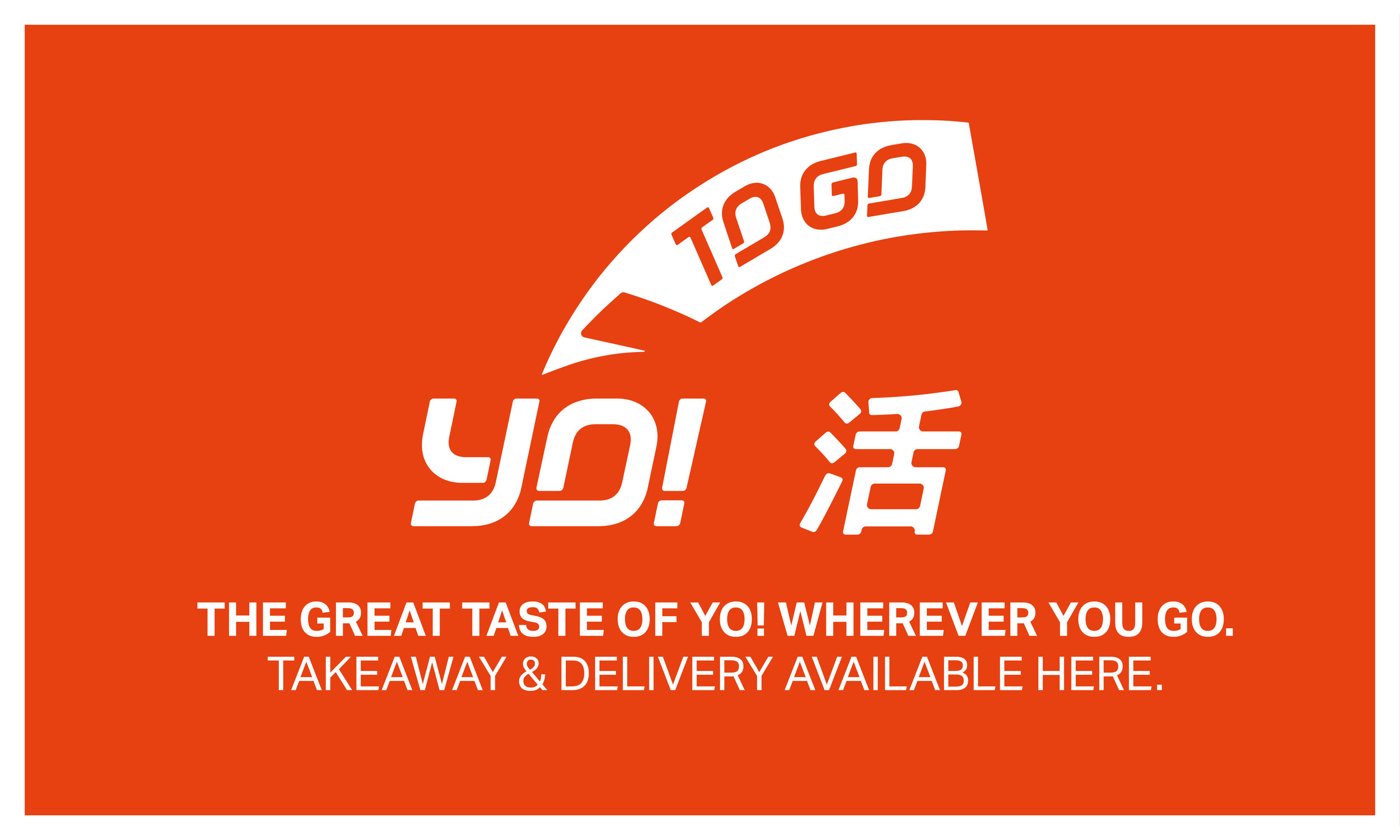 New YO! takeaway logo and branding