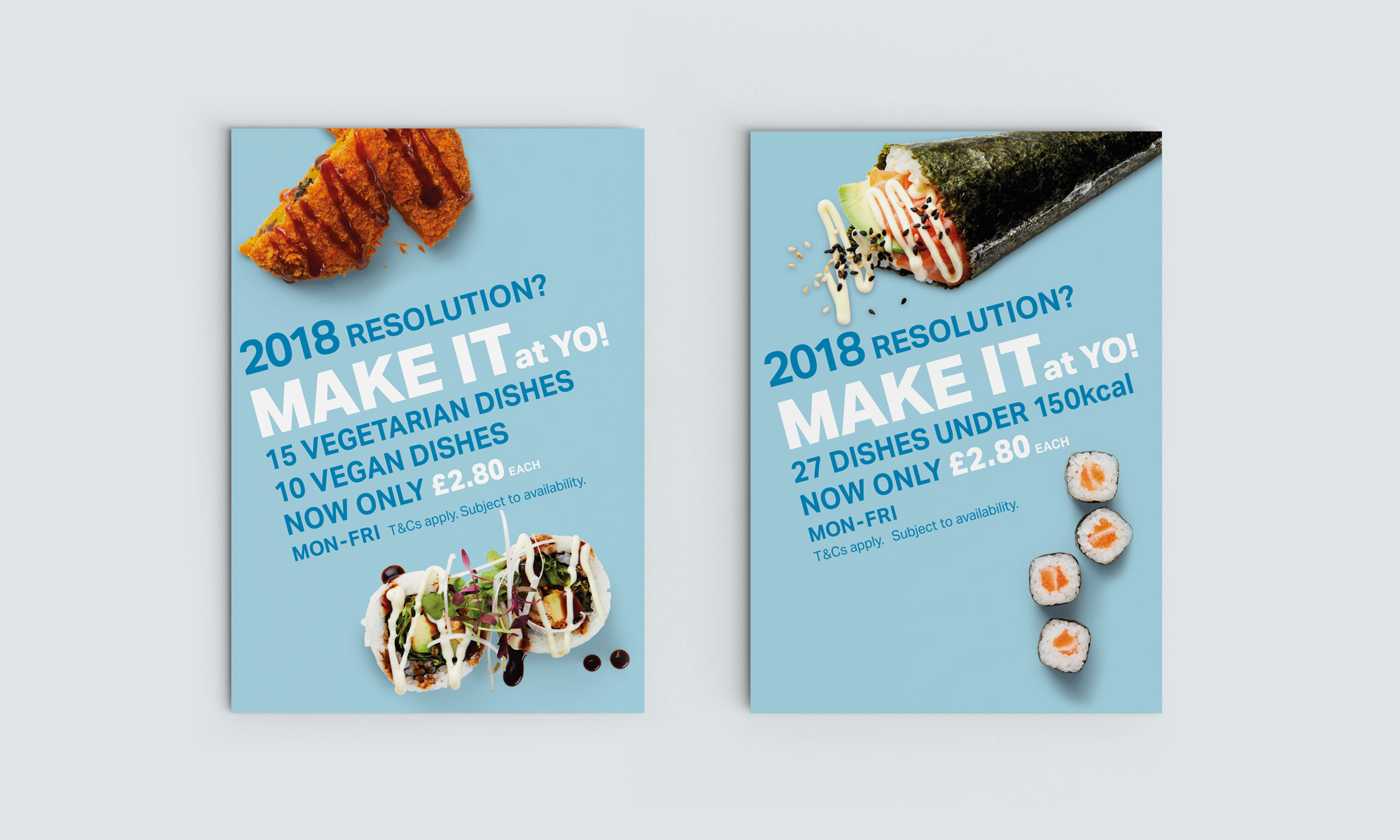Postcard size POS displays the campaign creative on the conveyor belt.