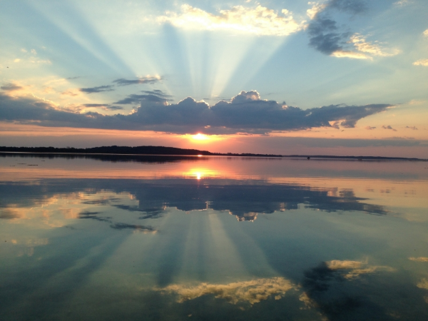 Solnedgang i Vestre Løb