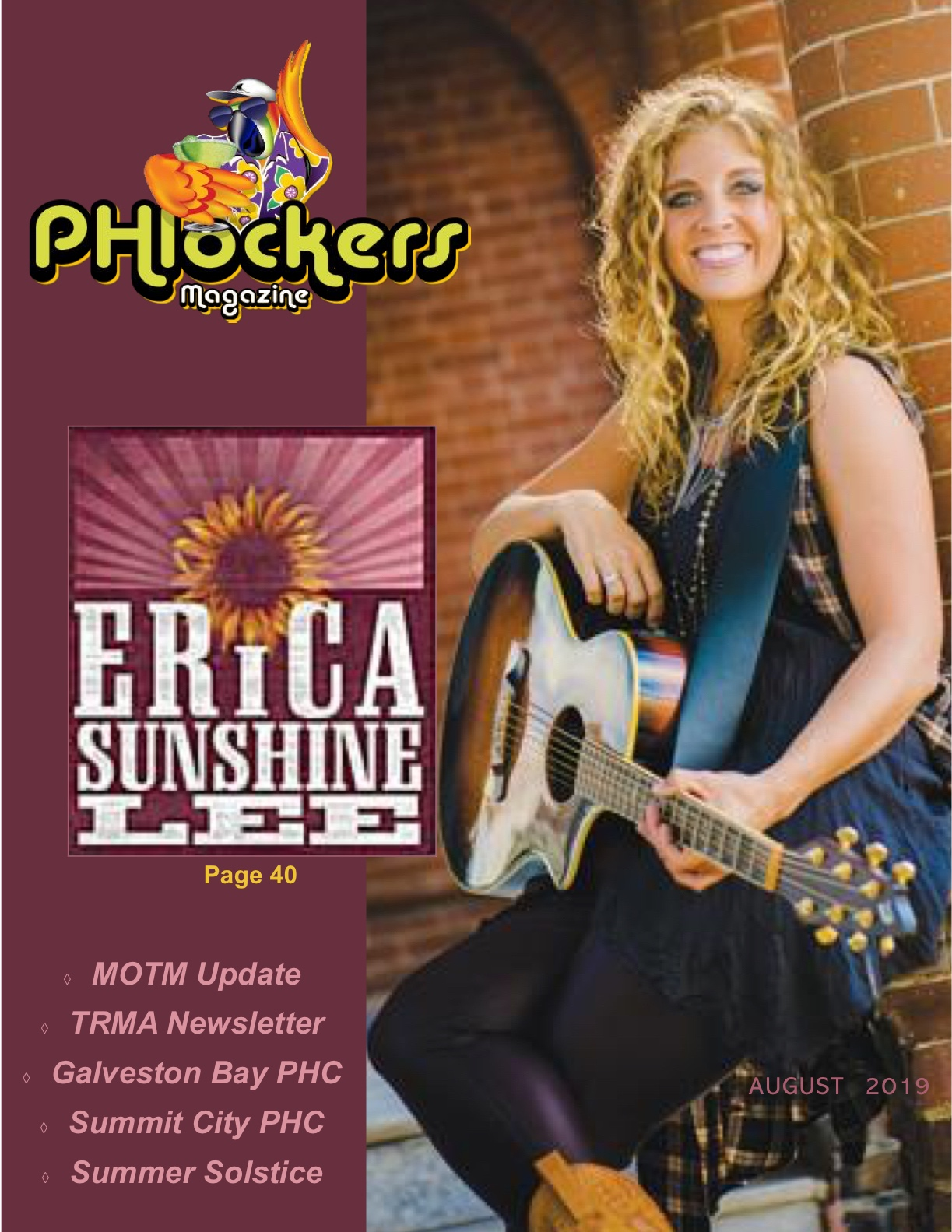 Read the up close and personal interview and learn about Erica Sunshine Lee, the Georgia Gypsy on this month's edition of PHLOCKERS MAGAZINE.  Aug. 2019