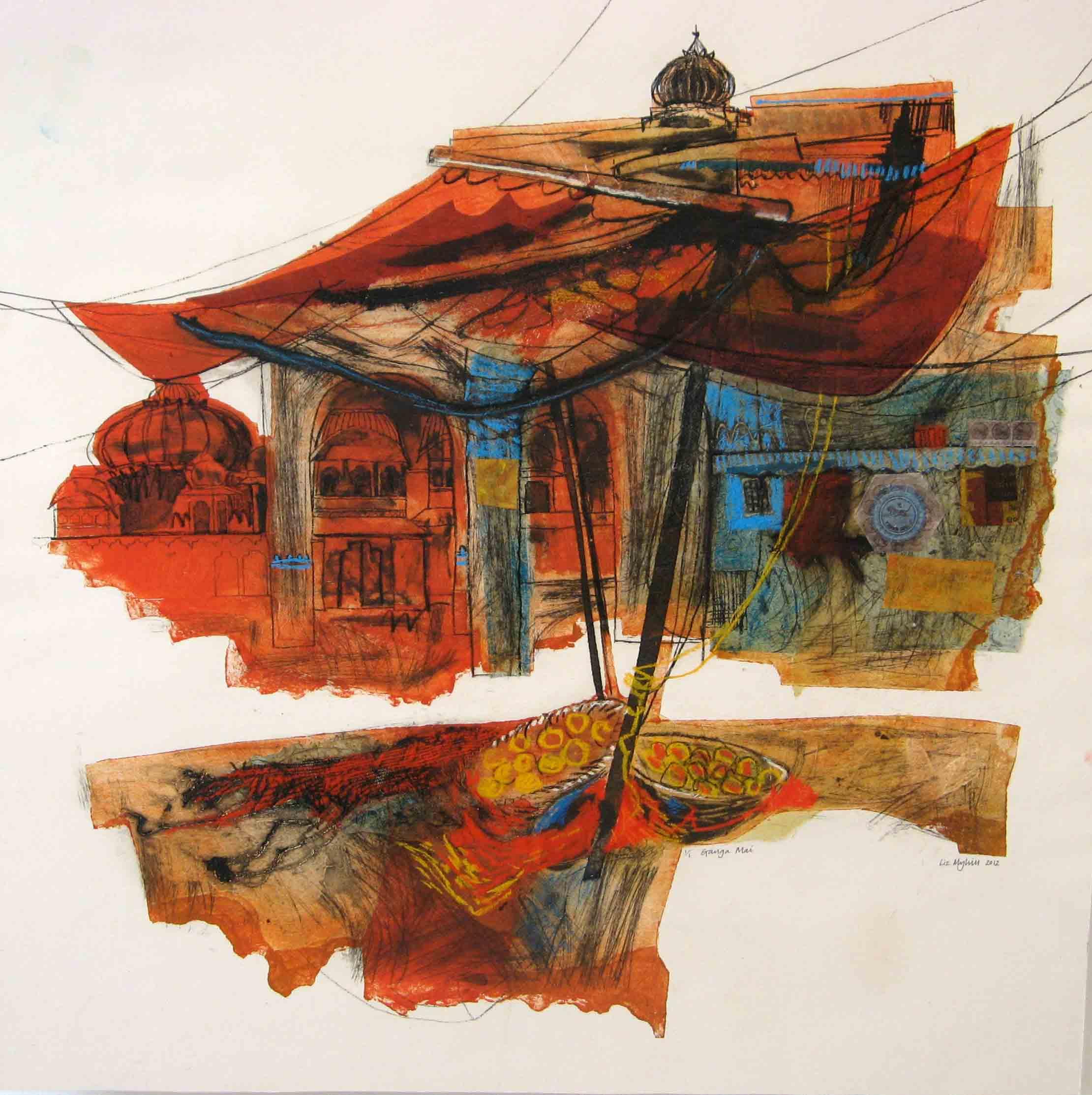 Ganga Mai Through the Awnings