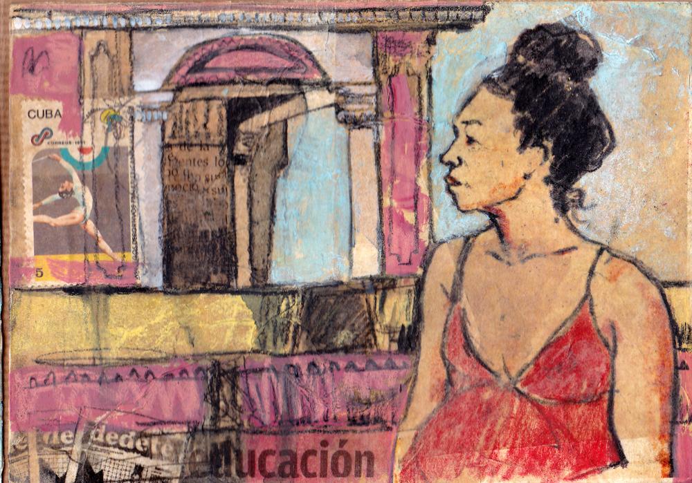 LOST POSTCARD, GIRL AT THE ZAPATERO