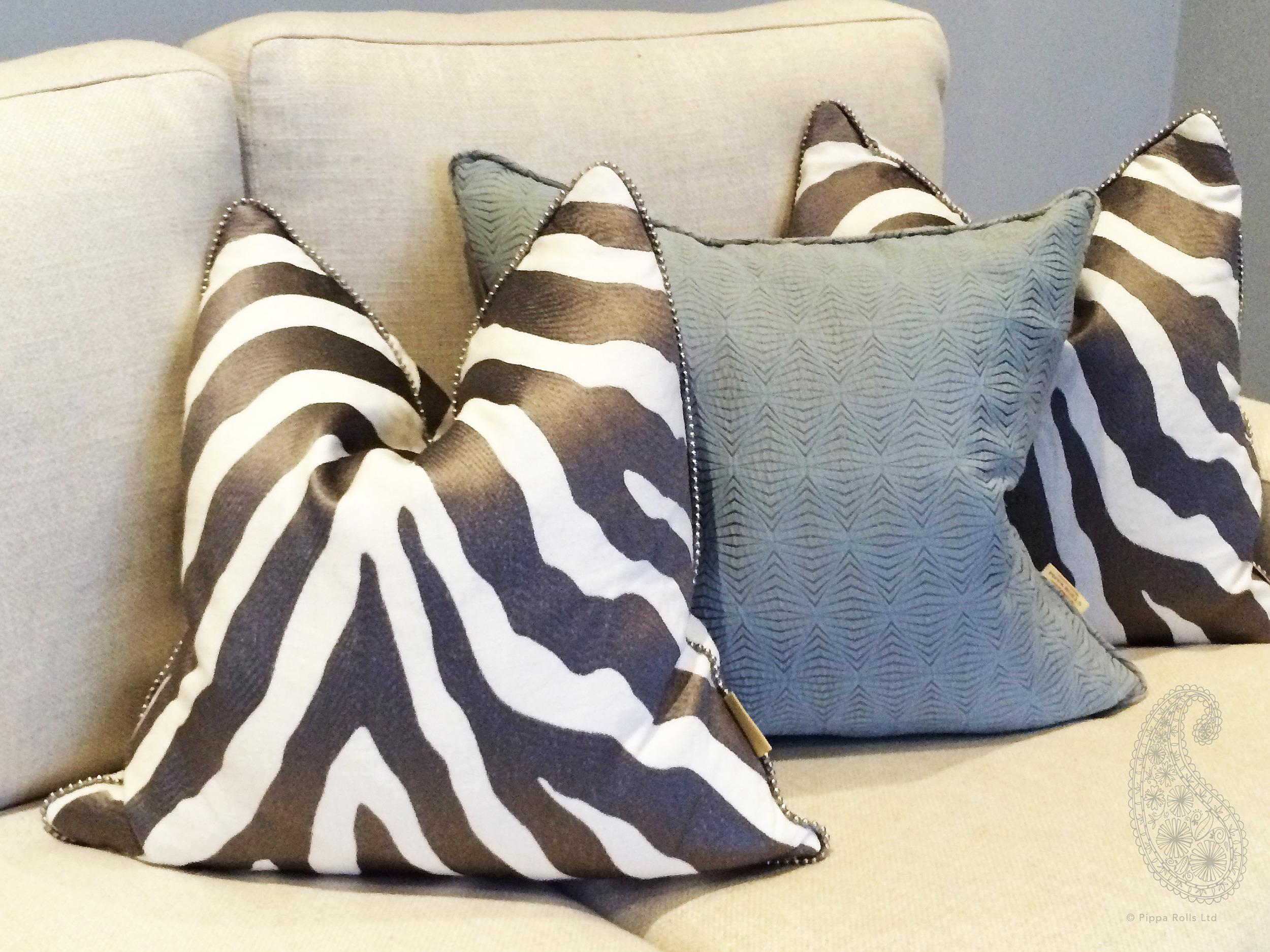Zebra strip cushions by Pippa Rolls Limited jpeg.jpg