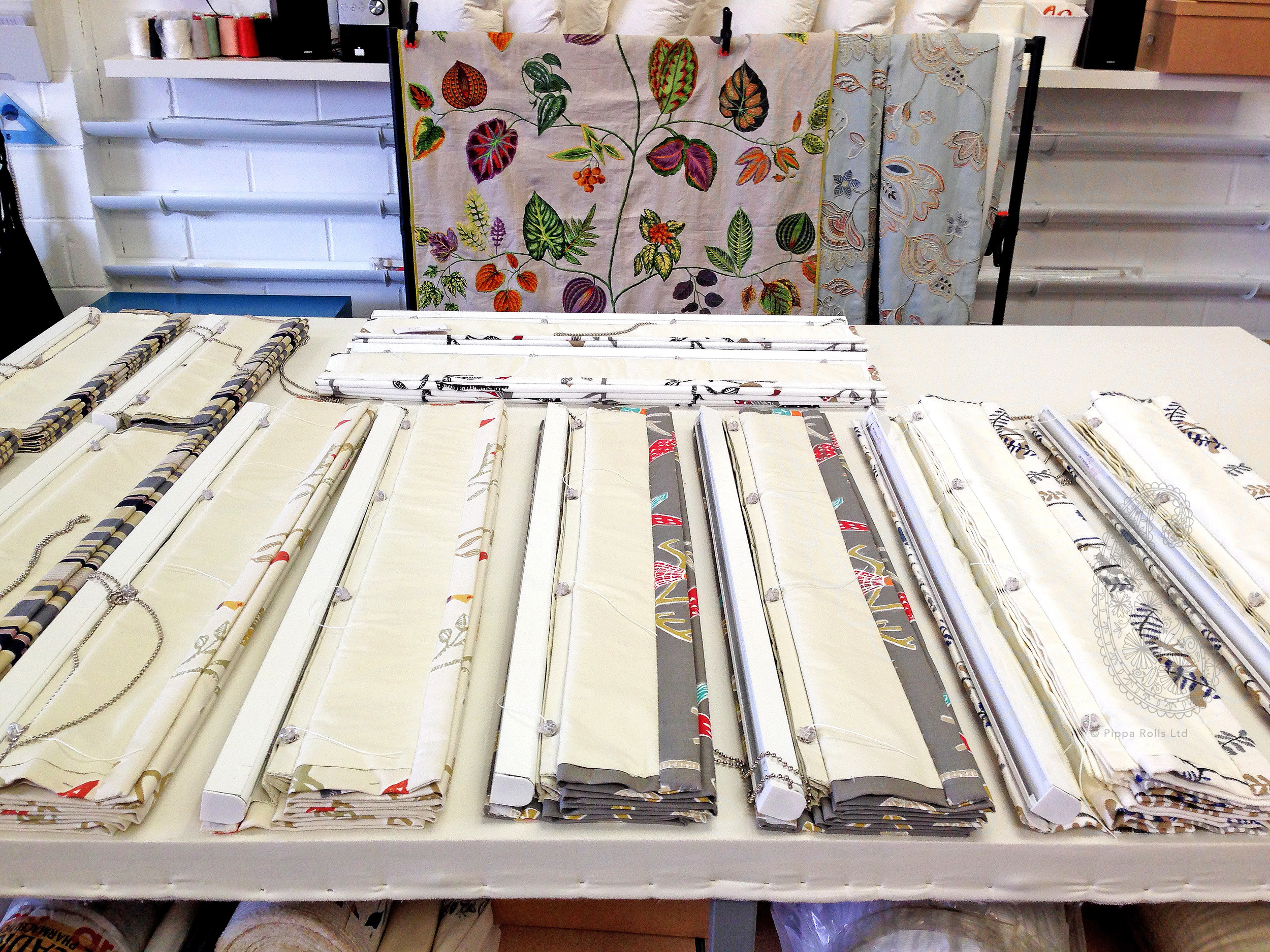 Roman blinds ready to be fitted Pippa Rolls Limited (1) jpeg.jpg