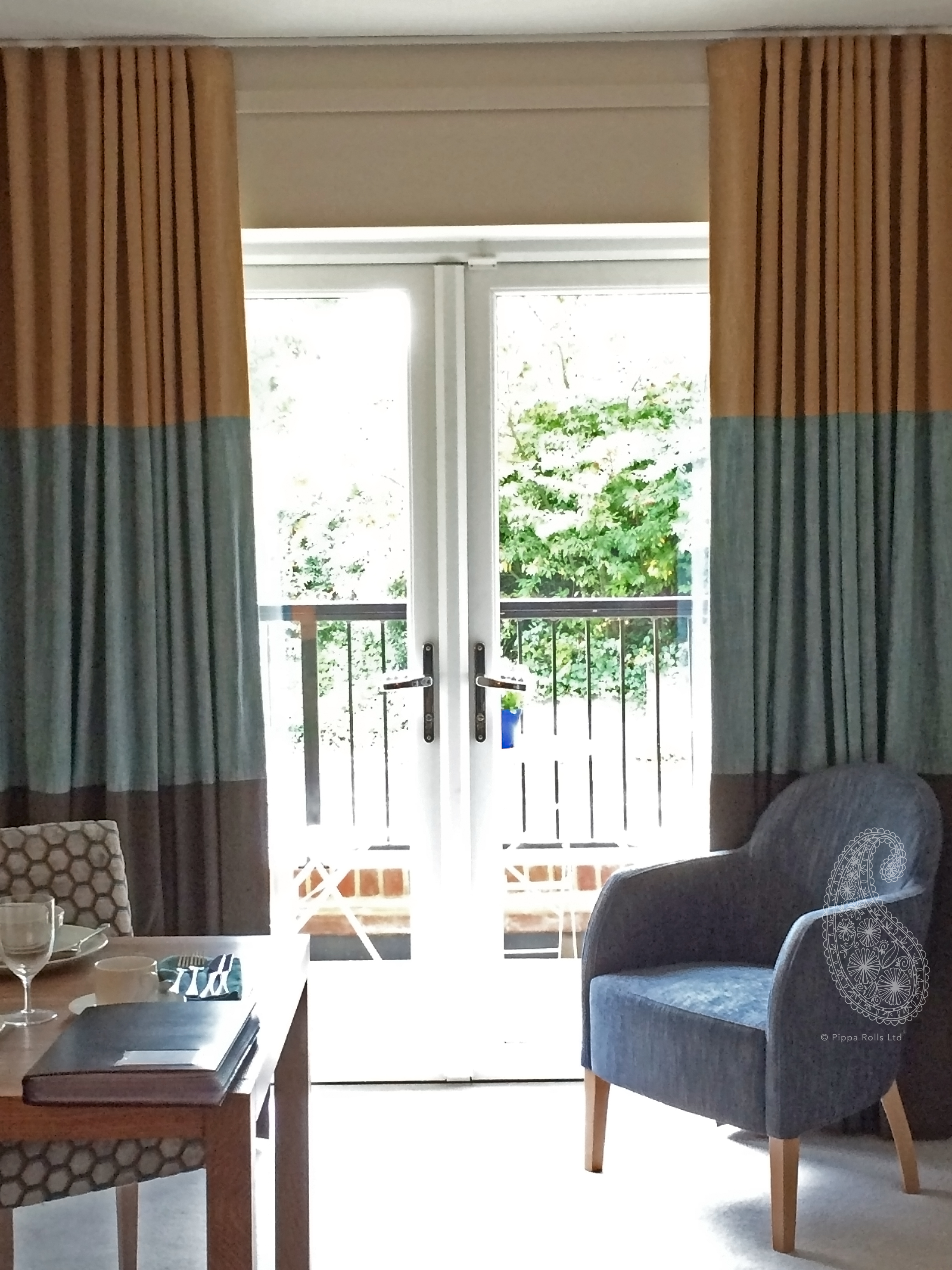 Showhome Wave Curtains in three colours for Jojo Humes Brown Pippa Rolls Limited jpeg.jpg