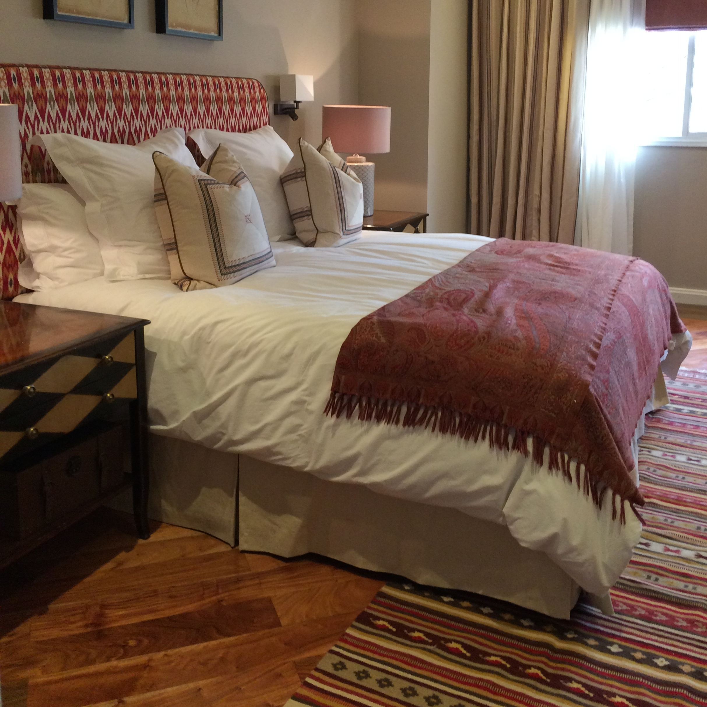 Bed valance in Romo Linara by Pippa Rolls Limited.jpg