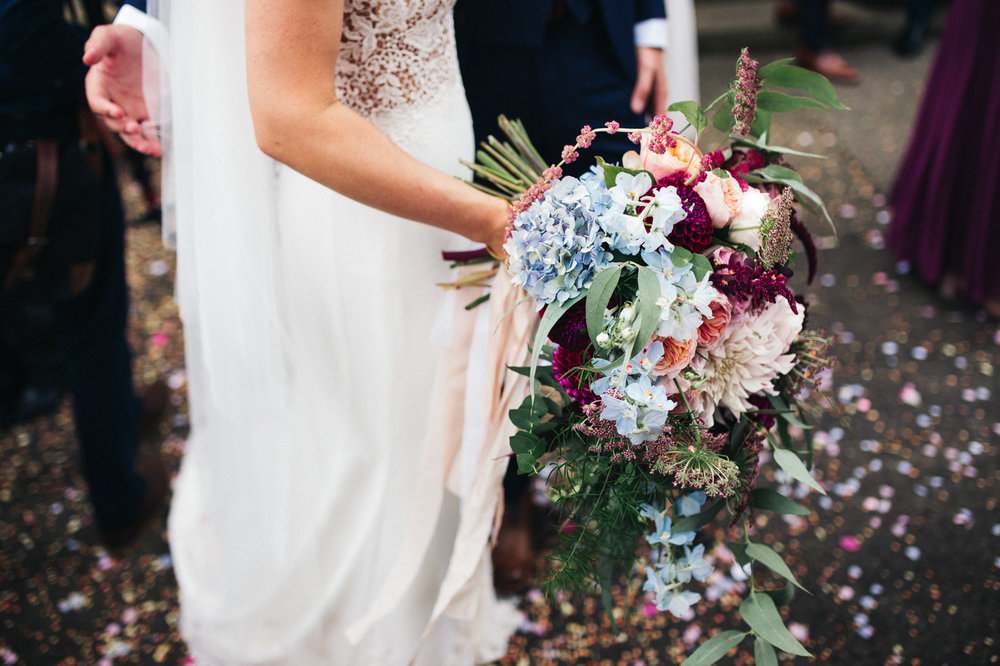 a cropped shot of a wildflower bouquet. ormesby hall wedding middlesbrough teesside wedding photography and stop motion wedding films uk