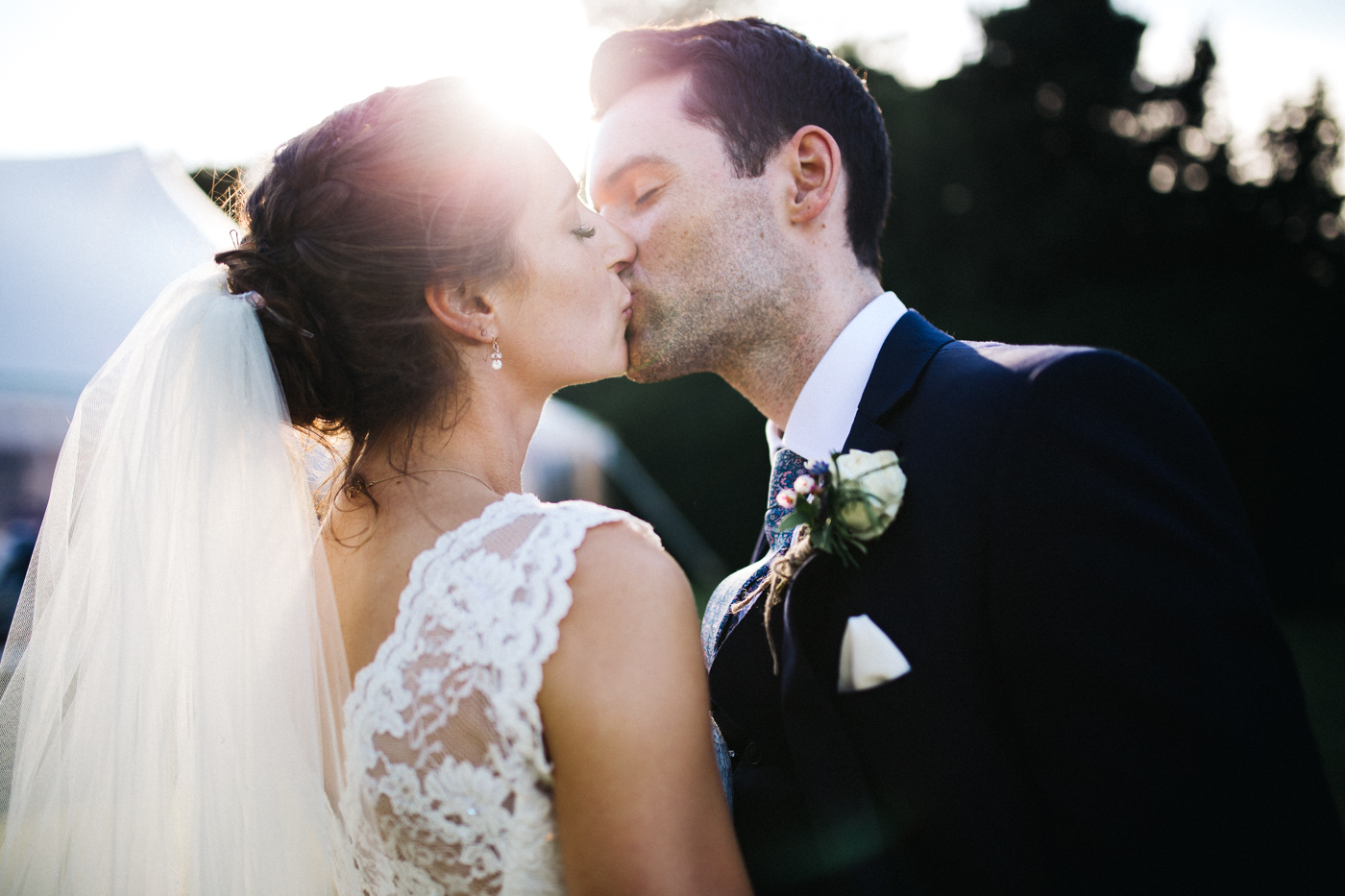 a bride and groom kiss. aldby park wedding york north yorkshire teesside photography stop motion wedding films uk