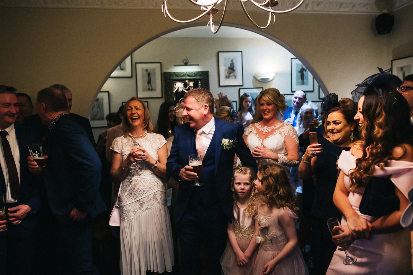 guests laugh during the speeches. cleveland tontine wedding teesside north yorkshire - relaxed and creative wedding photographer
