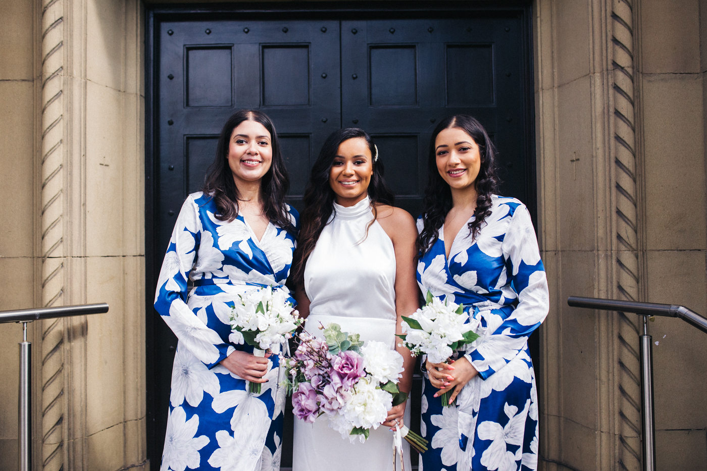the bride and her sisters, the bridesmaids. relaxed teesside middlesbrough wedding photographer, wedding at home