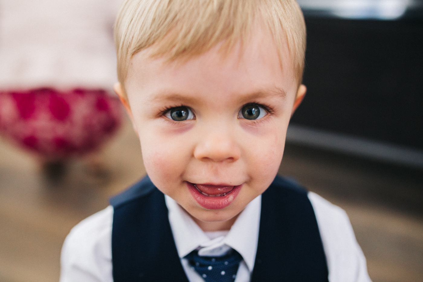 a close up of a little boy. relaxed teesside middlesbrough wedding photographer, wedding at home