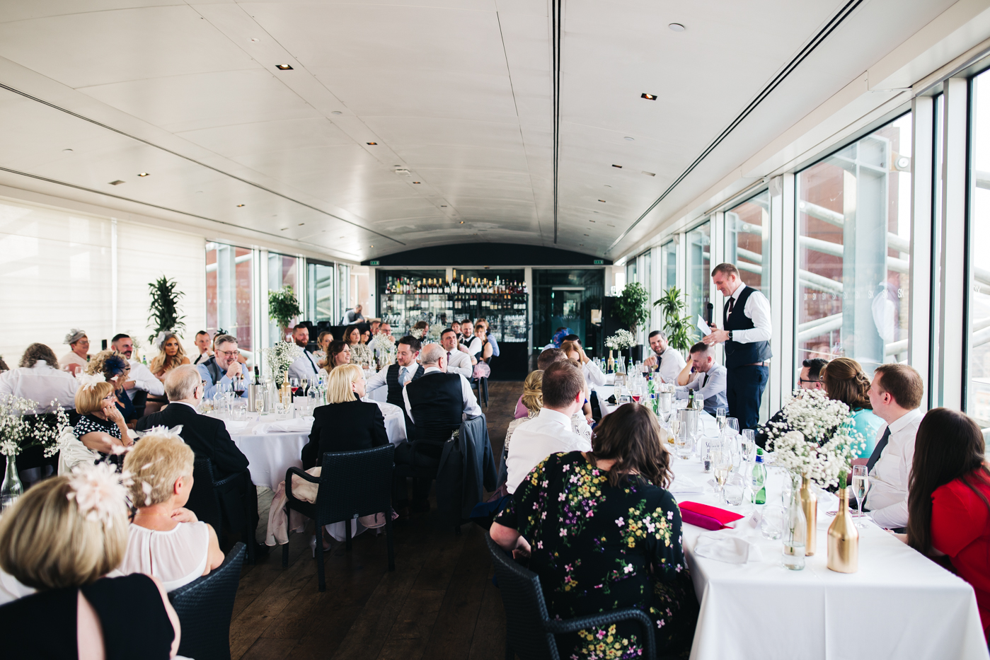 one of the best men makes his speech. wedding at the baltic newcastle gateshead north east photographer