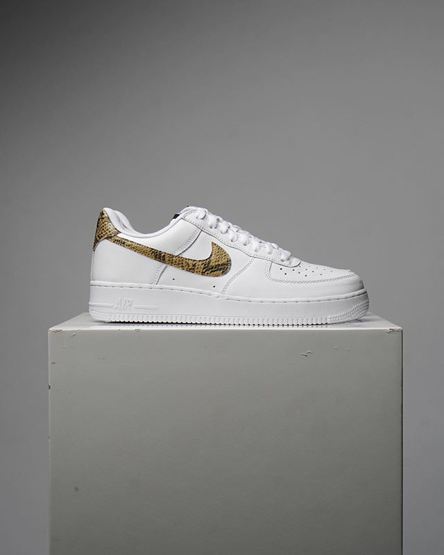 """A true classic, Air Force 1 Low PRM """"Ivory Snake"""" available in-store at @annmsshop for $195 CAD."""
