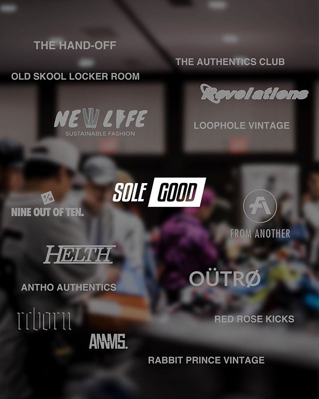 We have some amazing partners joining us at SoleGood 6 this weekend:  @theauthenticsclub  @annmsshop  @reborngarments  @9outof10_shop  @revelationsclothing  @hxlth  @oldskool_lockerroom  @loopholevintage  @antho_authentics  @rabbitprincevintage  @newlife.clo  @thehandoff.yeg  @outroclothing  @redrosekicks  @talebchoucair  @fromanotheredmonton  Make sure you give them a follow if you haven't already. We will also have some great local private sellers selling Vintage, Hype and Sneakers at the event!  Grab your tickets online: SoleGood.ca/tickets(link in bio), or in-store at @annmsshop, @fooshyeg, @theauthenticsclub and @fromanotheredmonton. . — S O L E G O O D 6 Sep 14-15 11 am. - 5 pm. (VIPs can enter half an hour early) 10444, 82nd Ave. Upstairs, above Yiannis Taverna Greek Restaurant which is beside Julio's Barrios. Music by @djqoolranch