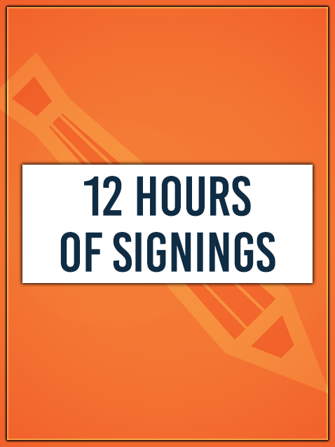 12 HOURS OF SIGNINGS