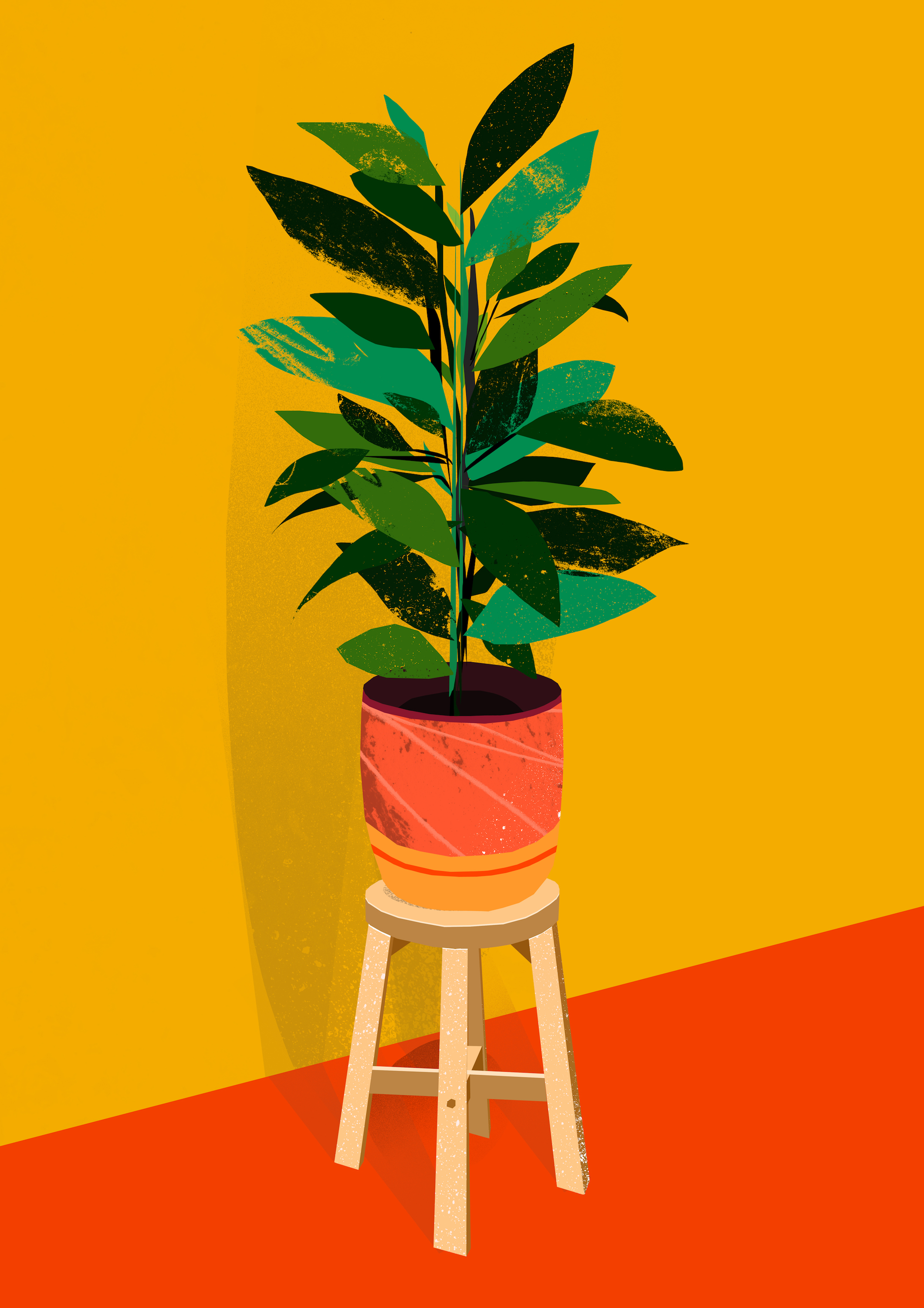 'Plant On Stool'  Available to Licence.