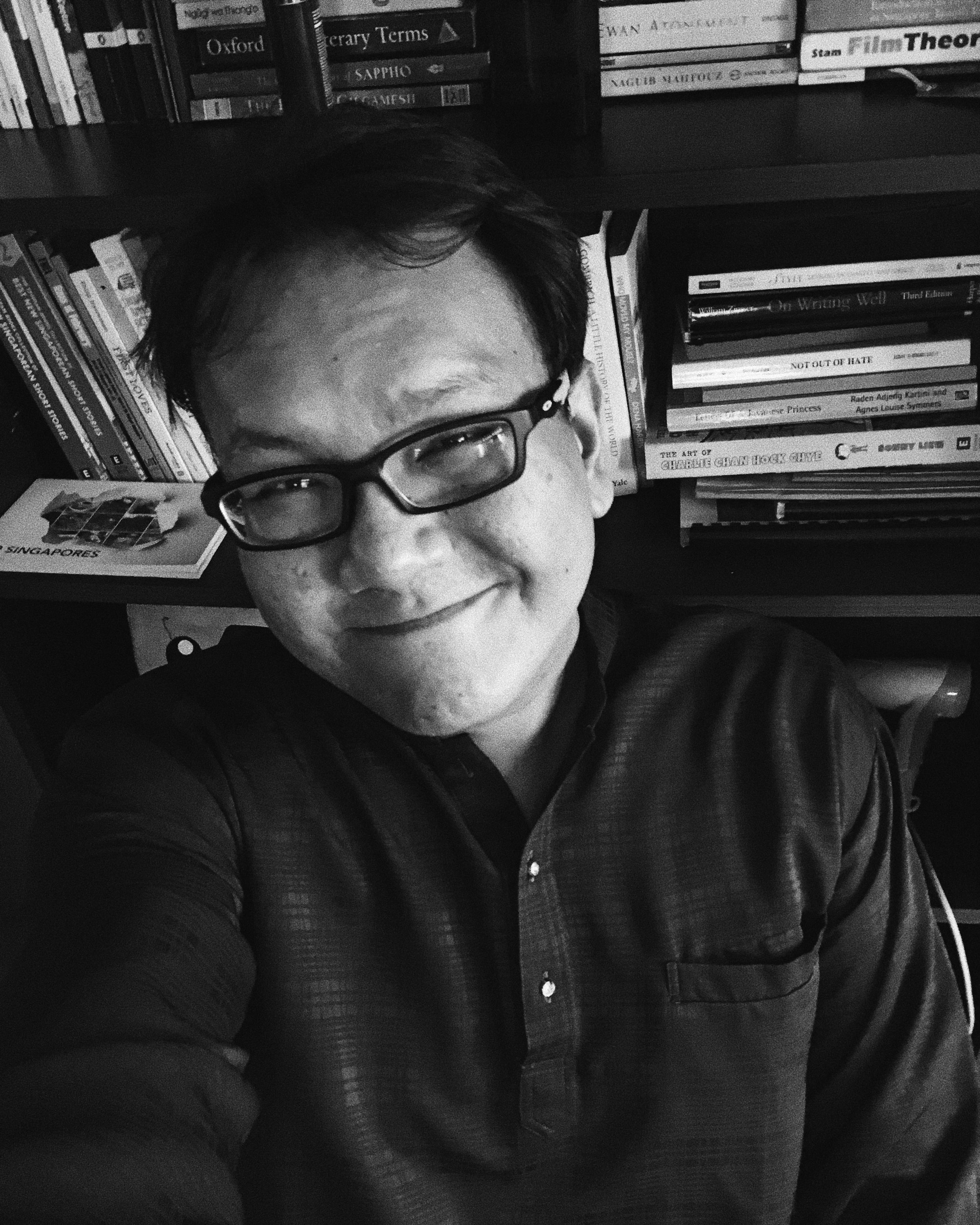 Hidhir Razak recently graduated from NTU's School of Humanities with an M.A in English, where he specialised in fiction writing. A lover of cats, he also writes poetry and likes mee soto. Hidhir was selected for his novel-in-progress,  Kemunting .