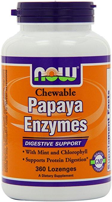 NOW Papaya Enzyme 360 Lozenges