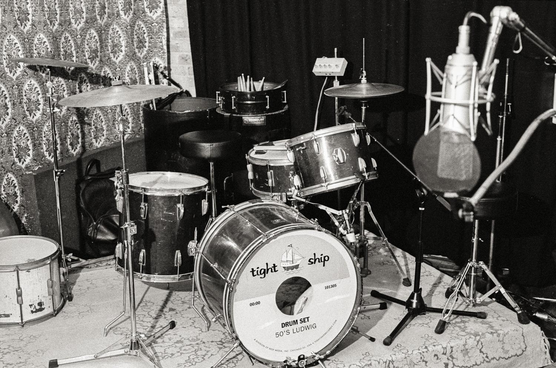Tight Ship drum set, North Branch Studio, Chicago.
