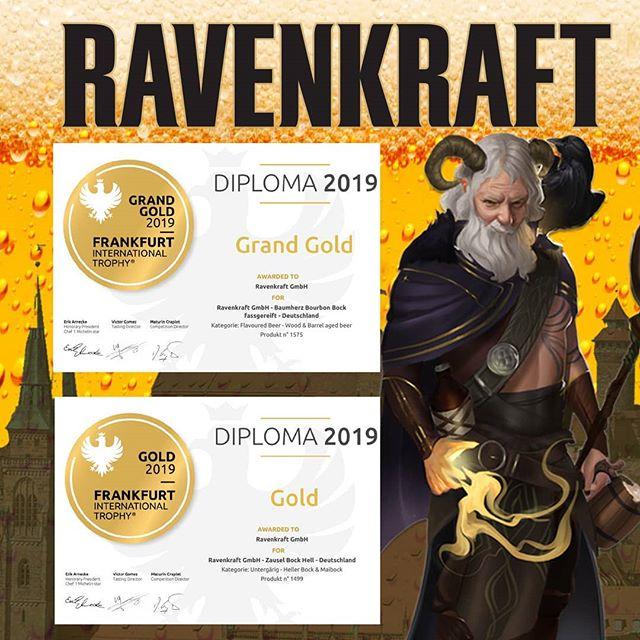 Du hast sie auf unserem letzten Bierfest getroffen. Nach einem Abenteuerausflug nach Frankfurt sind Sie reich mit Gold geschmückt wieder zurück in ihrer Heimat, Nürnberg. . . . . . . #beer #craftbeer #bierfest #bier #cerveza #pivo #drinkup #ravenkraft #beerporn #beerstagram #beerfest #theraven #gold #goldmedal #grandgold #frankfurt #nuremberg #raven #castle #zausel #DnD #germany #deutschland