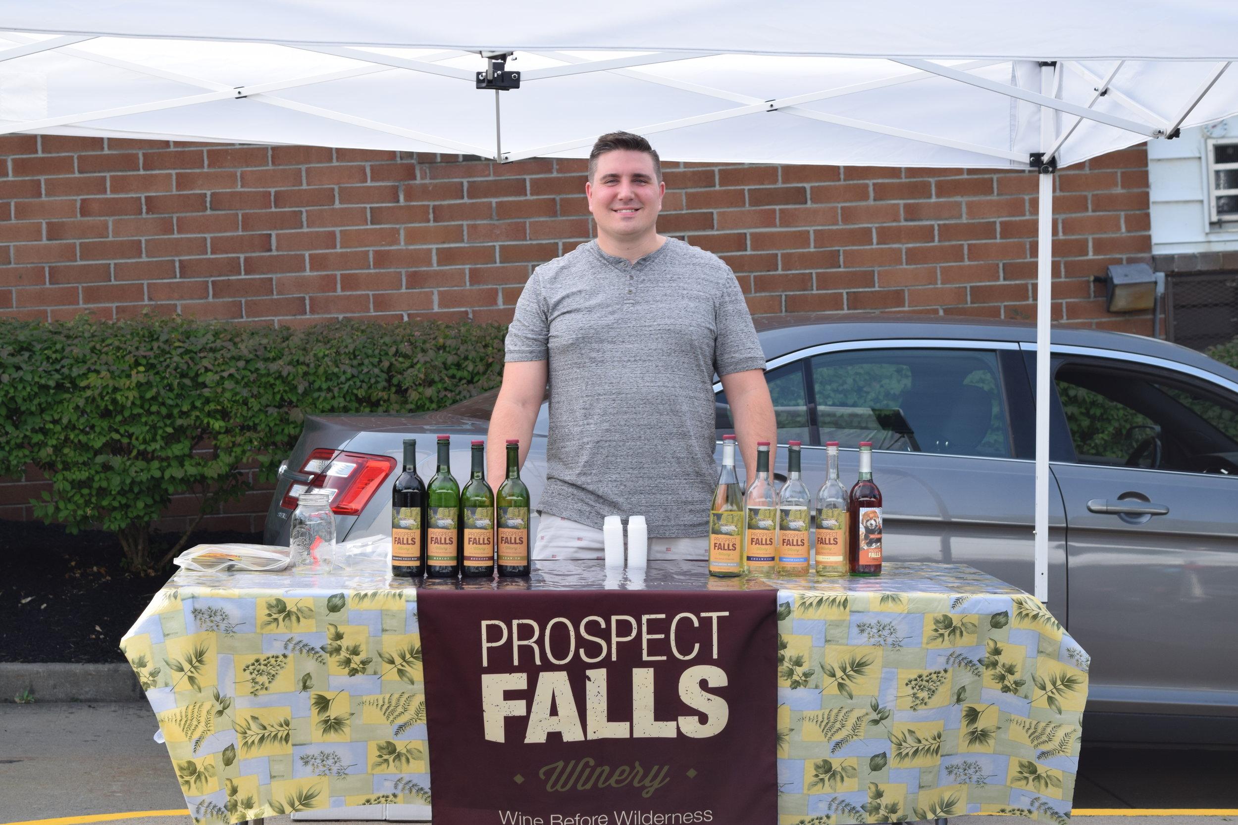 Summer-Fest 2017 Prospect Falls Winery Free Tasting and Selling Bottles of Wine.JPG