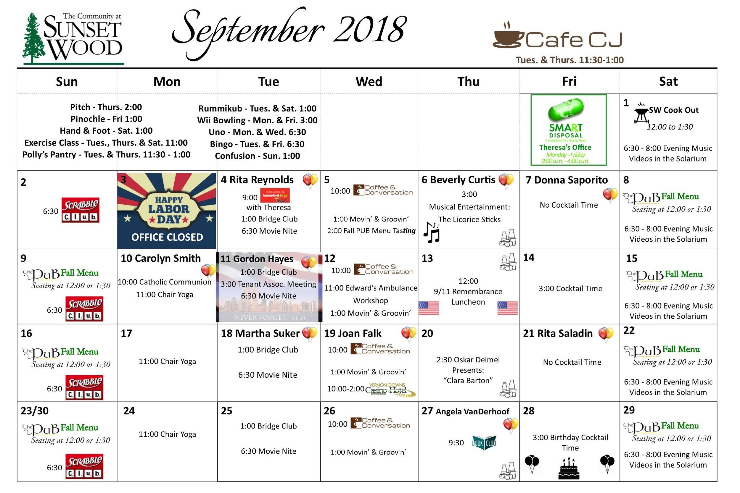 September Gazette 2018 - Calendar.jpg