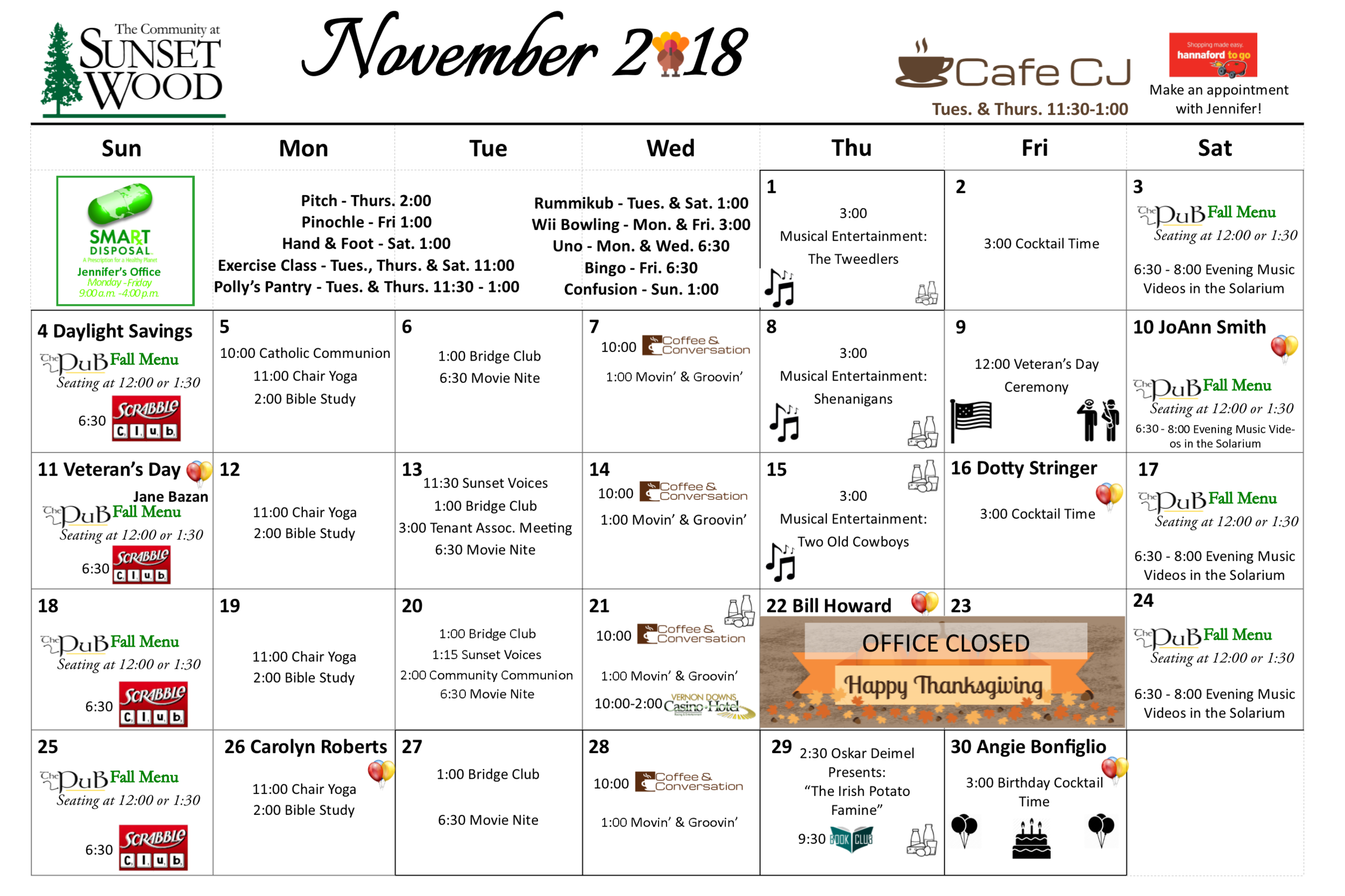 November Gazette 2018 - Calendar.png