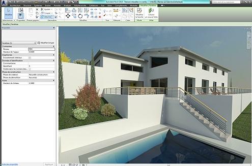 """Coupes 2D et Rendus 3D - Exporter des coupes ou plans en 2D.Réalisez des rendus """"photographiques"""" en perspective de votre maquette"""
