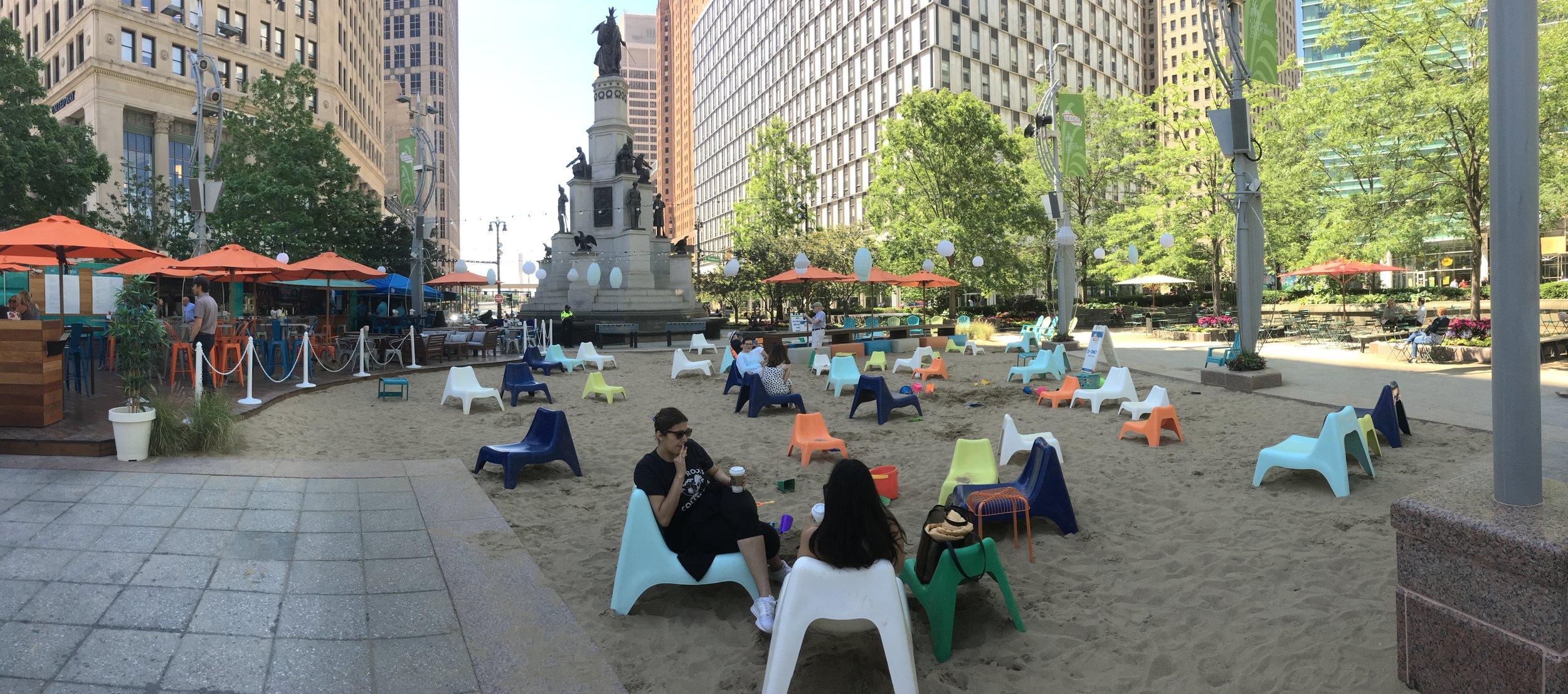 The Beach at Campus Martius, Detroit