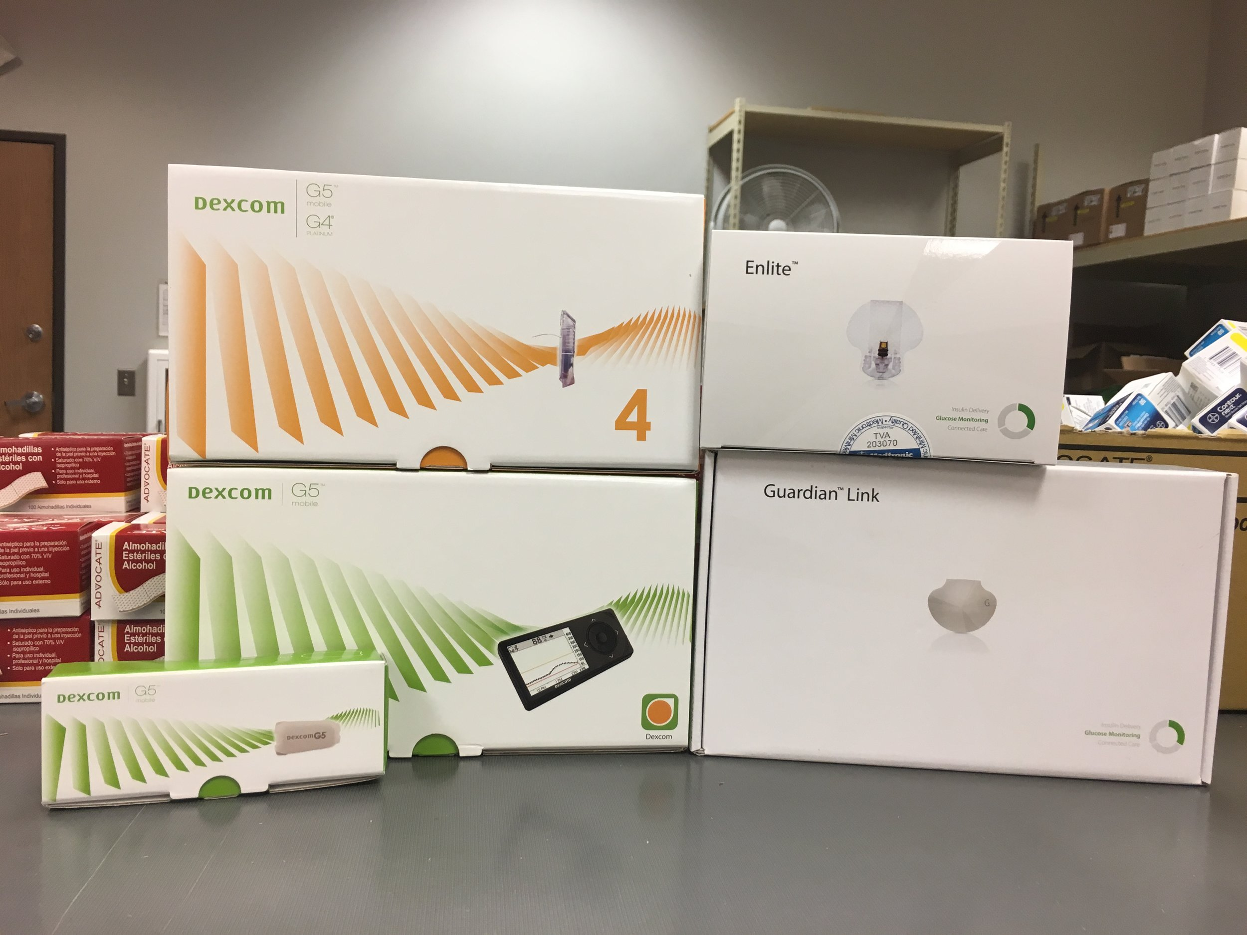 Dexcom & Medtronic CGM Systems (Photo by Emily Lewis)