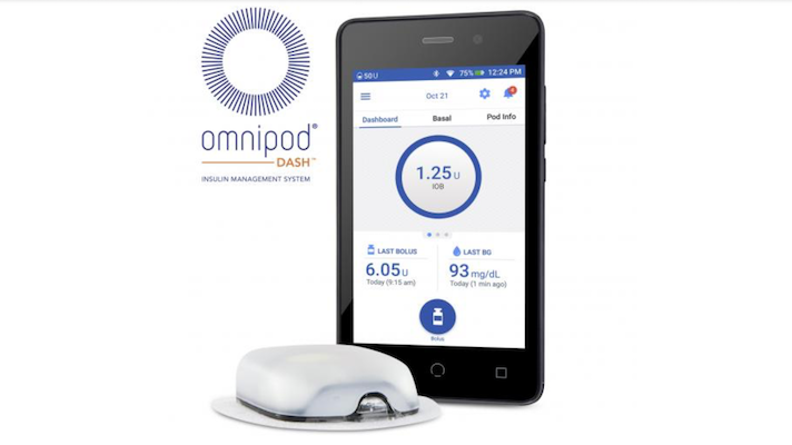 Insulet's Omnipod Dash Tubeless Insulin Management System Receceives FDA Clearance
