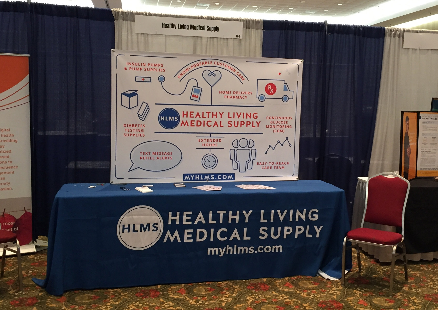 Our booth at the 2018 MAHP Conference.