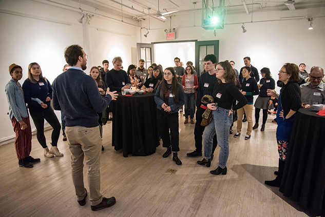 Prospective Reed College Freshman (Prospies) hear what to expect in Portland #prennfayre #nitrogen #nuclearfission #thesisparade
