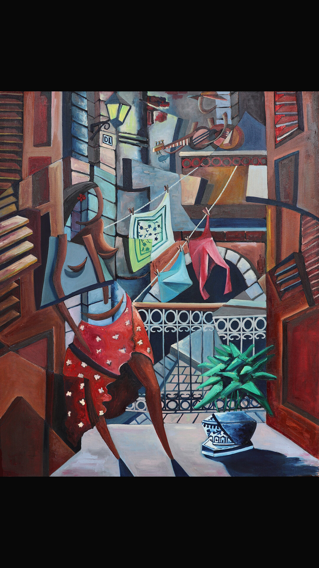 Derwin Leiva_Amor de Balcones_ 2019, Oil on Canvas, 91 x 76 cm  .jpg