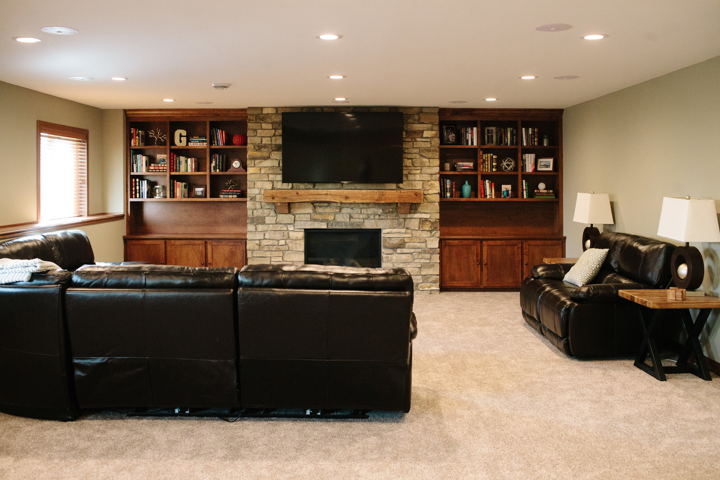 Andover basement renovation by Professio