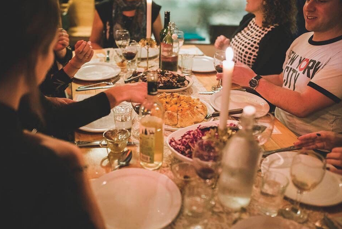 Moments before, and moments in: scenes from Sonja's Harvest Table dinner, taken earlier this year.