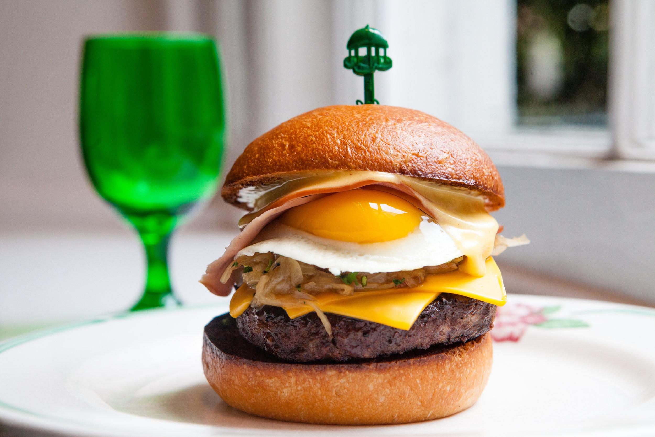 The Greenbrier Breakfast Burger ~ The Greenbrier