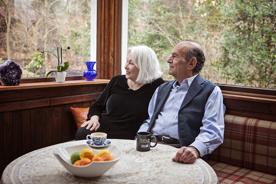 Stuart with his wife Pat at their home in Lewisburg.