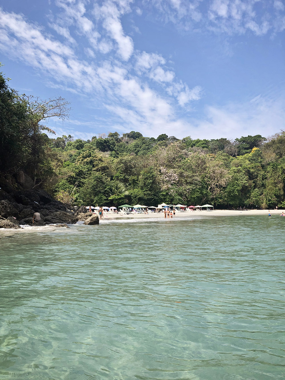 A secret beach hides around the corner in Manuel Antonio