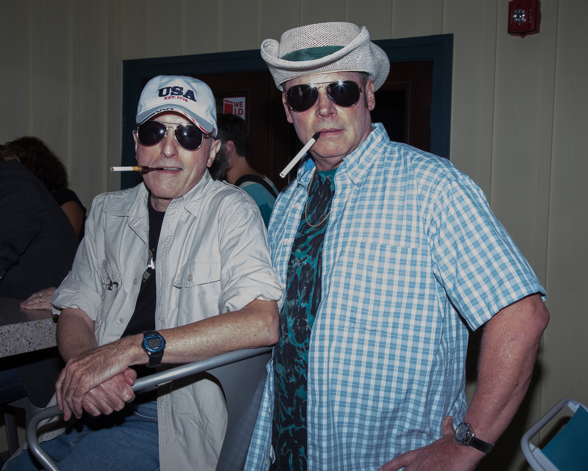 Participating the a Hunter S. Thompson look-alike contest for the Lewisburg Literary Festival in 2015.