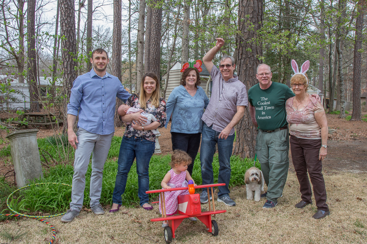 Easter family gathering in Richmond, 2018.