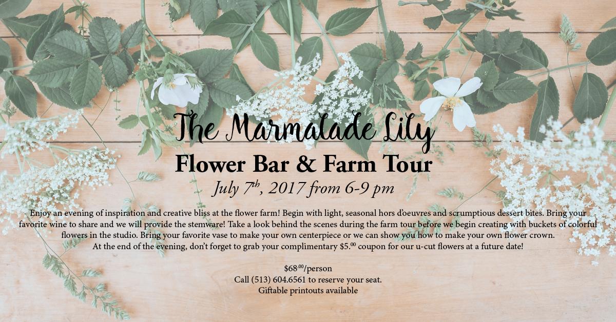 July Flower Bar & Farm Tour
