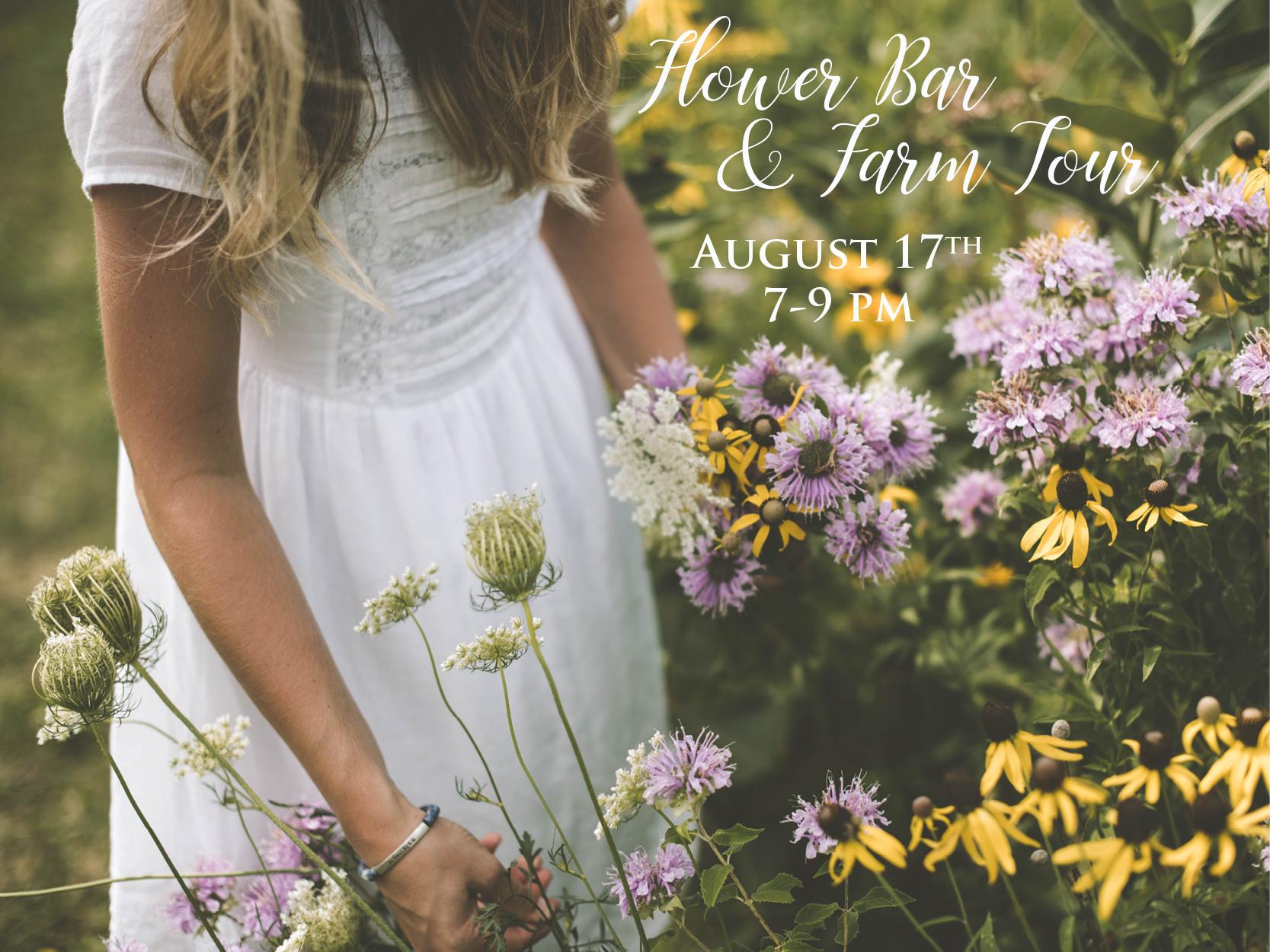 August 2018 Flower Bar & Farm Tour